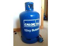 15kg Butane gas bottle 1/4 full with Regulator