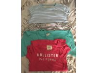 Hollister and Jack Wills tops