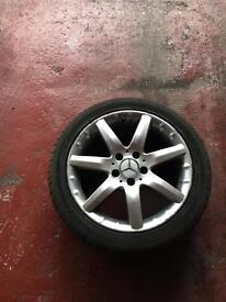 Original alloy wheel with brand new tyre for Mercedes C class 17""