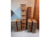 Lot of 6 wicker storage drawers / towers