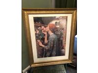 Stunning vintage extra large picture by William Waterhouse