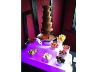 Bouncy castle popcorn & candy floss machine chocolate fountain fruit display balloon arch hire