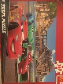 OPENED BUT UNUSED, Trefl 260 Piece Kids Disney Pixar Cars Porto Corso Lightning Jigsaw Puzzle