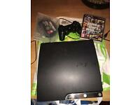 PS3 with controller , GTA 5 & call of duty advanced warfare