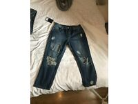 MISSGUIDED JEANS, never worn. With tags. Unwanted Christmas gift