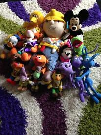 Soft toys ( 7 Disney big earnie laughs, giggles tyco)