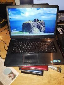 dell inspiron n5050 windows 7 500g hard drive 6g memory webcam wifi dvd drive charger