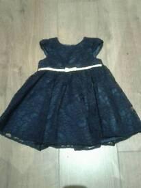 Beautiful blue dress 6-9 months