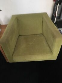 Green office armchair