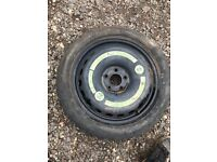 "Mercedes c class kompressor 16"" space saver spare wheel and tyre"