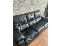 3 seater + armchair recliner soft leather
