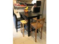 Ikea sodden table and 5 stools