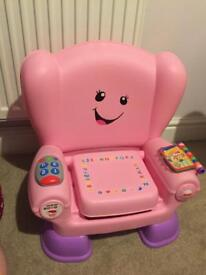 Fisher price laugh and learn chair 3 stage