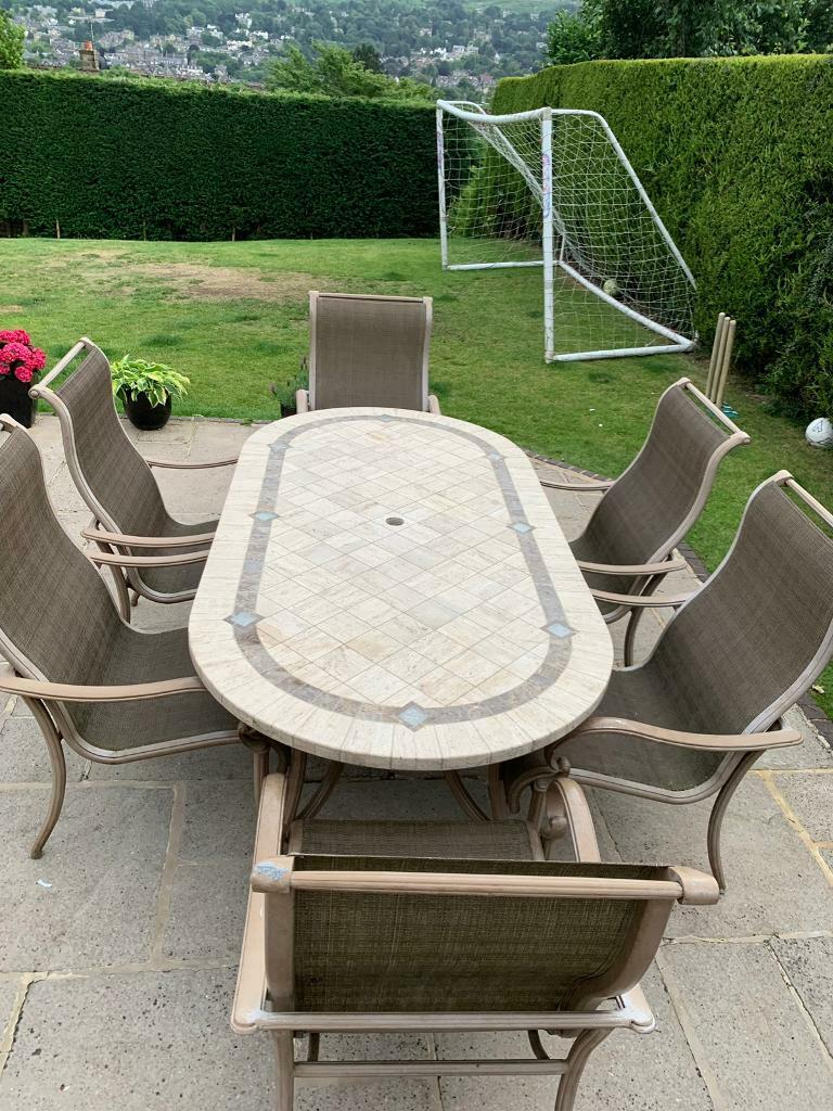 Amazing 7 Piece Natural Stone Garden Furniture Set Rrp 3K From Costco In Ilkley West Yorkshire Gumtree Home Interior And Landscaping Ologienasavecom