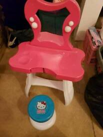 Hello kitty pink girls dressing table
