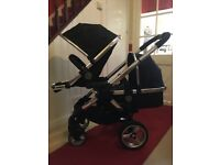 iCandy Peach 2 Black Majic Double Pram Pushchair CAN POST