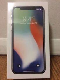 iPhone X 64GB Silver BNIB
