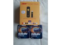 Now tv box with 1 month cinema pass and 2 Gillette fusions all brand new and not been opened