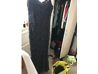 Navy/black sparkly ball gown