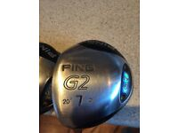 Left handed Ping woods 4,7,9 and Nike Sasquatch driver all Left handed