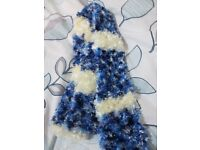 Lovely blue and white scarf for sale