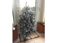 NEW, Frost affect Christmas tree with build in white lights. 4.5 ft, RRP £180