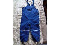 Waterproof trousers 3-4y.
