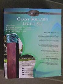 Glass BOLLARD Lights Set of 2