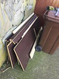 Various size pieces of mdf free to a good home