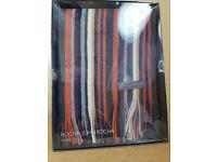 RJR.John Rocha Men's Striped Wool Scarf - New in Box