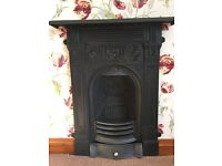 Cast iron fireplace bedroom Victorian ornate antique