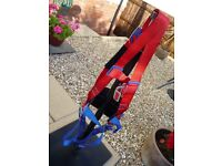 3 Point Safety Harness with 'Comfort' back support (One-size) - Once used in excellent condition