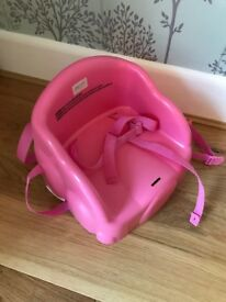 Plastic booster seat - pink - just £4!