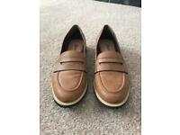 Mantaray brown slip on loafers