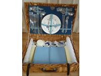 Vintage handmade Brexton Collection wicker picnic set