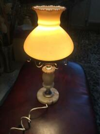 Lovely onyx and glass lamp