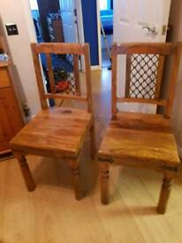 Two dining chairs.