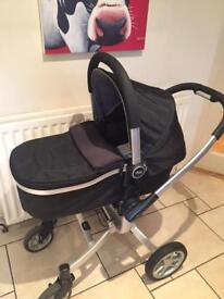 Graco Symbio travel system inc pushchair travel cot car seat rain cover and foot muff