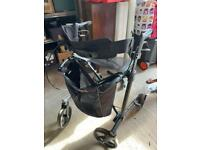 Gemino rollator walking aid with seat and shopping bag