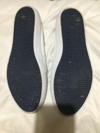 White Lacoste shoes size 3