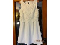 """Dress """"George"""" size 12 lacy top fully lined."""