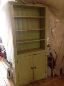 Beautiful storage cupboard / shelves / bookcase Farrow & Ball solid wood