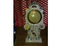 Mercedes porcelain Antique Clock