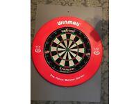 Winmau Dartboard Surround Heavy Duty Dart Board Rubber Ring Red