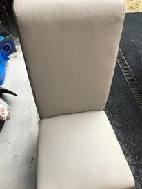 Next faux leather chairs - practically new