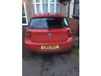 Bmw 1 series 2012 plate new shape with 1 year MOT