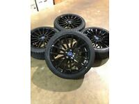 """Brand new set of 18"""" alloy wheels and tyres Ford Focus Mondeo Connect"""