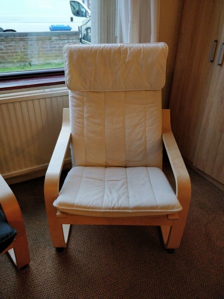 White Ikea Armchair | in Warrington, Cheshire | Gumtree