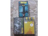 3 x REM VHS Video's Road Movie, Tourfilm & Parallel