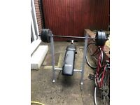 Workout bench with different weights